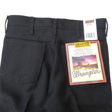 """画像7: Wrangler """"WRANCHER DRESS JEANS""""  Boot Cut Pants BLACK size W 29~40 INCH (7)"""