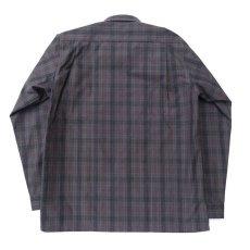 """画像4: Riprap """"Cotton Weather Tartan Check Semi Open Collar Shirt""""  color : CHARCOAL/PURPLE size LARGE (4)"""