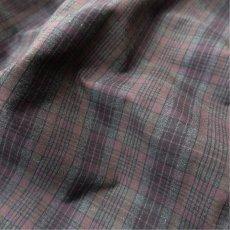 """画像7: Riprap """"Cotton Weather Tartan Check Semi Open Collar Shirt""""  color : CHARCOAL/PURPLE size LARGE (7)"""
