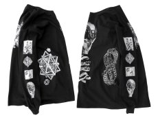 "画像7: NEW ""M.C. Escher"" Multi Print L/S T-Shirts color : WHITE, BLACK size S, M, L (7)"