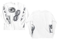 "画像4: NEW ""M.C. Escher"" Multi Print L/S T-Shirts color : WHITE, BLACK size S, M, L (4)"