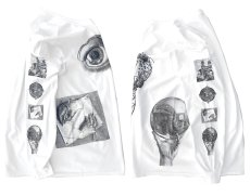 "画像5: NEW ""M.C. Escher"" Multi Print L/S T-Shirts color : WHITE, BLACK size S, M, L (5)"