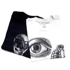 "画像3: NEW ""M.C. Escher"" Multi Print L/S T-Shirts color : WHITE, BLACK size S, M, L (3)"