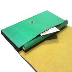 """画像9: """"JUTTA NEUMANN"""" Leather Wallet """"Waiter's Wallet"""" -長財布- color : Kelly Green / Yellow (9)"""