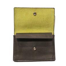 """画像4: """"JUTTA NEUMANN"""" Leather Wallet """"Waiter's Wallet""""  -MEDIUM SIZE- color : Olive / Lime (4)"""