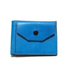 """画像1: """"JUTTA NEUMANN"""" Leather Wallet with Change Purse -二つ折り財布- color : Turquoise / Purple (1)"""