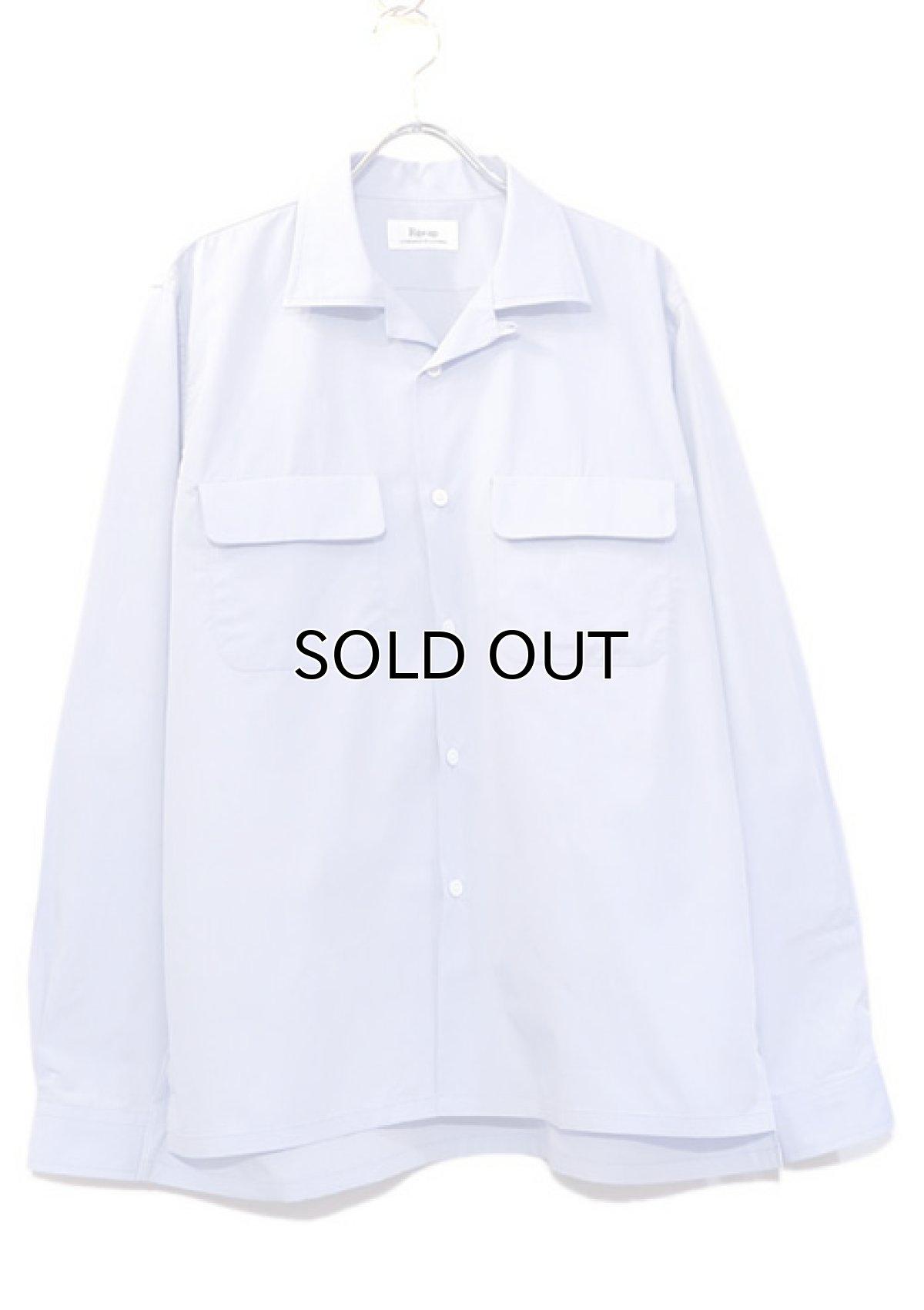 """画像1: Riprap """"Broad Cotton Semi Open Collar Shirt""""  color : SAX size MEDIUM (1)"""
