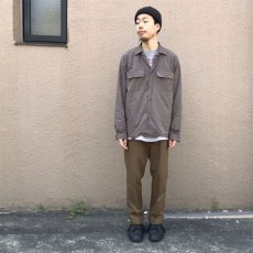 "画像9: Riprap ""Broad Cotton Semi Open Collar Shirt""  color : BROWN size MEDIUM, LARGE, X-LARGE (9)"