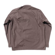 "画像3: Riprap ""Broad Cotton Semi Open Collar Shirt""  color : BROWN size MEDIUM, LARGE, X-LARGE (3)"