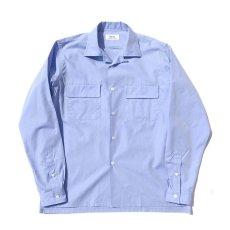 """画像2: Riprap """"Broad Cotton Semi Open Collar Shirt""""  color : SAX size MEDIUM, LARGE (2)"""