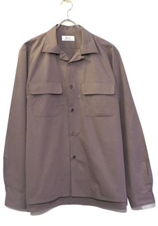 "画像1: Riprap ""Broad Cotton Semi Open Collar Shirt""  color : BROWN size MEDIUM, LARGE, X-LARGE (1)"