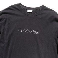 画像3: Calvin Klein Logo Print L/S T-Shirt color : BLACK size LARGE (3)