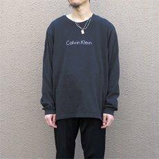 画像5: Calvin Klein Logo Print L/S T-Shirt color : BLACK size LARGE (5)
