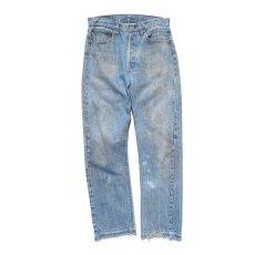 画像2: 1970's Levi's 501 Late 66 Indigo Denim 5-Pocket Pants W30INCH(表記W32L32) (2)