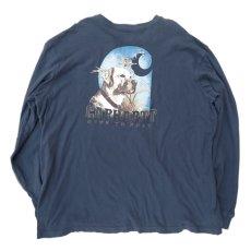 "画像3: Carhartt  L/S Pocket T-Shirt with ""Back Print"" NAVY size XXL(表記XXL) (3)"