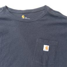 "画像4: Carhartt  L/S Pocket T-Shirt with ""Back Print"" NAVY size XXL(表記XXL) (4)"