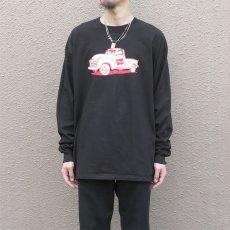 画像4: HANES BEEFY Logo Print L/S T-Shirt BLACK size XL(表記XL) (4)