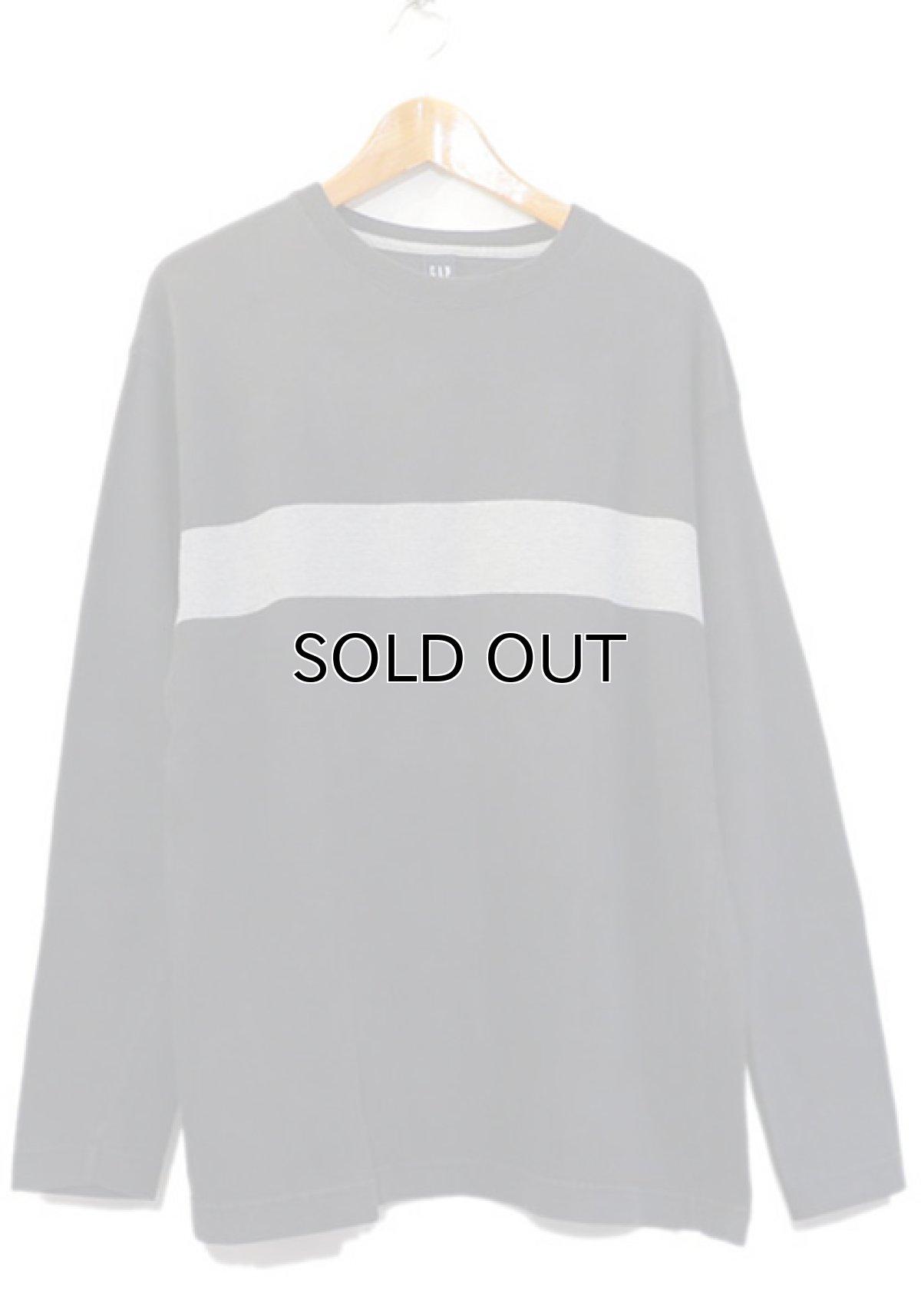 画像1: 1990's GAP Heavy Cotton 2-Tone L/S T-Shirt BLACK/GREY size M-L(表記M) (1)