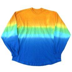 画像2: SPIRIT JERSEY Tie-Dye L/S T-Shirt YELLOW~BLUE size MEDIUM (表記M) (2)