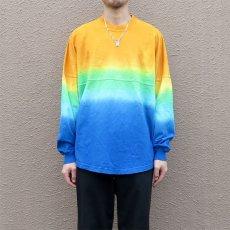 画像5: SPIRIT JERSEY Tie-Dye L/S T-Shirt YELLOW~BLUE size MEDIUM (表記M) (5)