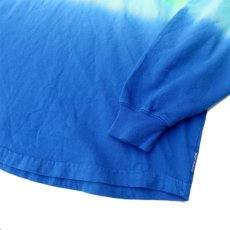 画像4: SPIRIT JERSEY Tie-Dye L/S T-Shirt YELLOW~BLUE size MEDIUM (表記M) (4)