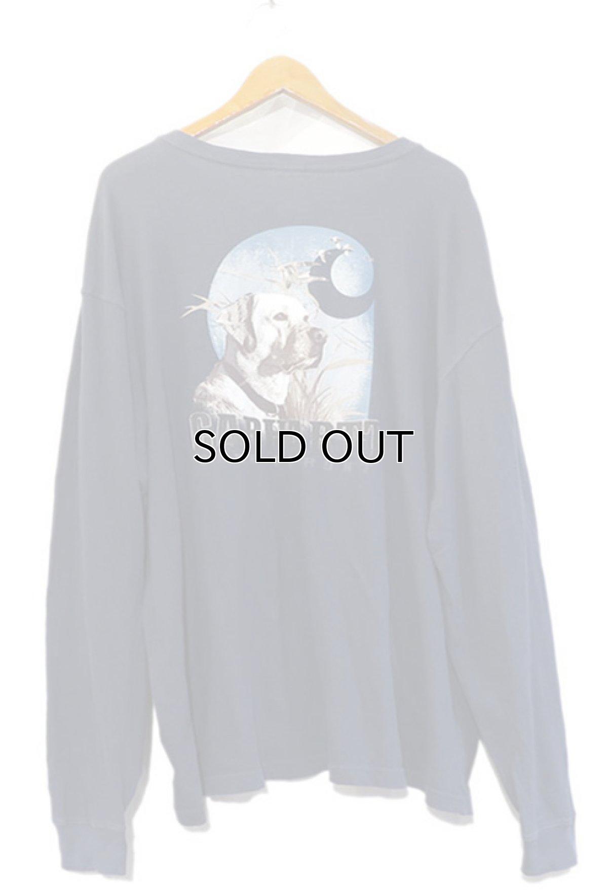 "画像1: Carhartt  L/S Pocket T-Shirt with ""Back Print"" NAVY size XXL(表記XXL) (1)"