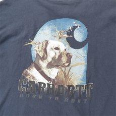 "画像5: Carhartt  L/S Pocket T-Shirt with ""Back Print"" NAVY size XXL(表記XXL) (5)"