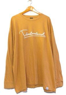 画像1: 1990's~ TIMBERLAND Logo Print L/S T-Shirt MUSTARD size XXXL (表記XXXL) (1)