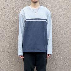 画像5: 1990's GAP Heavy Cotton 2-Tone L/S T-Shirt GREY/NAVY size L(表記L) (5)