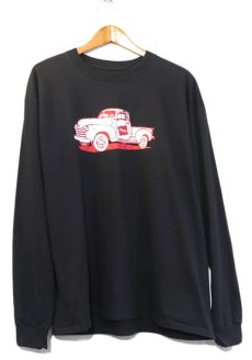 画像1: HANES BEEFY Logo Print L/S T-Shirt BLACK size XL(表記XL) (1)