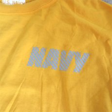 画像5: U.S. NAVY  L/S Training T-Shirt -Reflector Print- YELLOW size SMALL, MEDIUM (5)