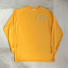 画像3: U.S. NAVY  L/S Training T-Shirt -Reflector Print- YELLOW size SMALL, MEDIUM (3)