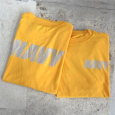 画像2: U.S. NAVY  L/S Training T-Shirt -Reflector Print- YELLOW size SMALL, MEDIUM (2)