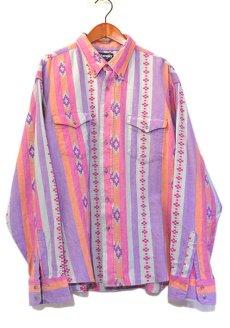 画像1: 1980's Wrangler L/S B.D. Shirt MULTI PATTERN size LARGE (表記17) (1)