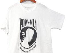 """画像2: 1980's U.S.Military Crew Neck Print T-Shirts  """"POW MIA"""" Dead Stock WHITE size SMALL / MEDIUM (2)"""