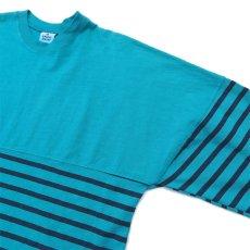画像3: SPIRIT JERSEY Border L/S T-Shirt GREEN/NAVY size M, XXL (3)