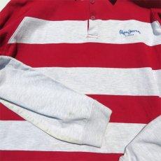 画像6: Pepe Jeans L/S Layered Lager Shirt RED/ASH GREY sizeXL(表記L) (6)