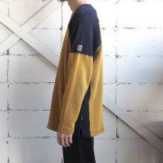 画像6: 1990's~ TRANS NINE L/S Thermal T-Shirt YELLOW/NAVY size M-L(表記L) (6)