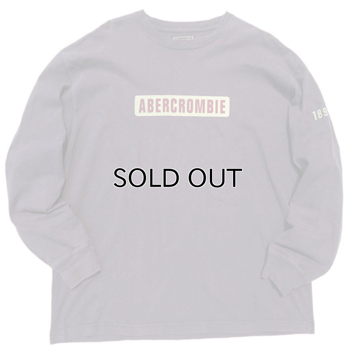 画像1: 1990's~ Abercrombie & Fitch Logo Print L/S T-Shirt NAVY size XL(表記XL) (1)