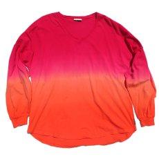 画像1: SPIRIT JERSEY Tie-Dye L/S T-Shirt PINK~ORANGE size XL(表記XL) (1)