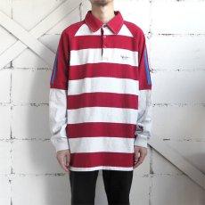 画像2: Pepe Jeans L/S Layered Lager Shirt RED/ASH GREY sizeXL(表記L) (2)