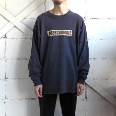 画像2: 1990's~ Abercrombie & Fitch Logo Print L/S T-Shirt NAVY size XL(表記XL) (2)