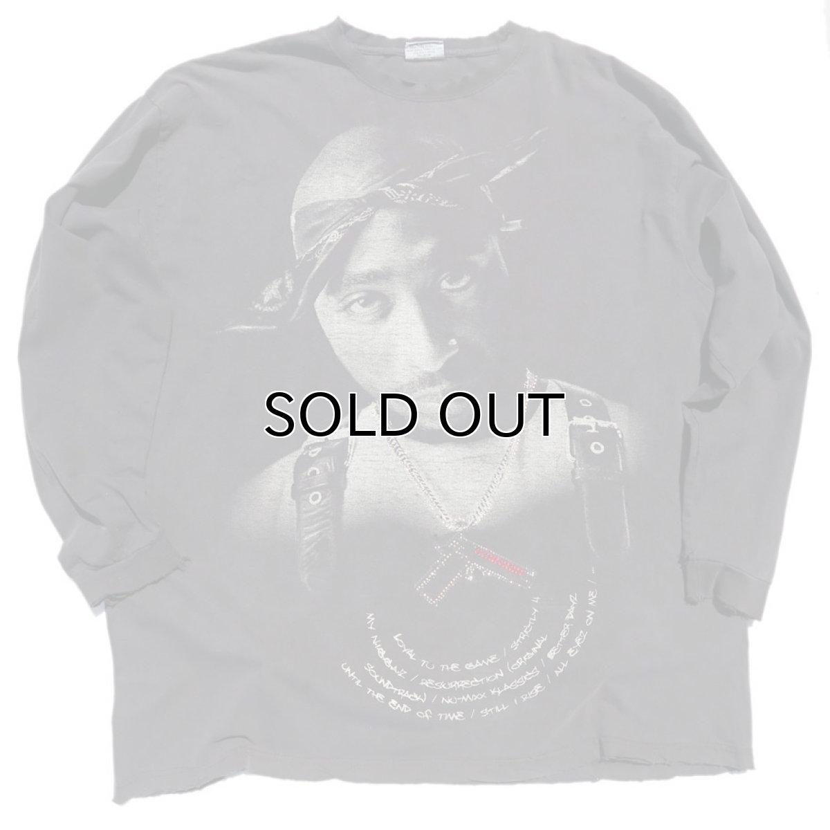 "画像1: Russo Wear ""2 PAC"" Print L/S T-Shirt BLACK size XXXL(表記3XL) (1)"