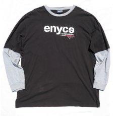 画像1: enyce L/S Layered Print T-Shirt BLACK size XXXL(表記L) (1)