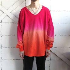 画像2: SPIRIT JERSEY Tie-Dye L/S T-Shirt PINK~ORANGE size XL(表記XL) (2)