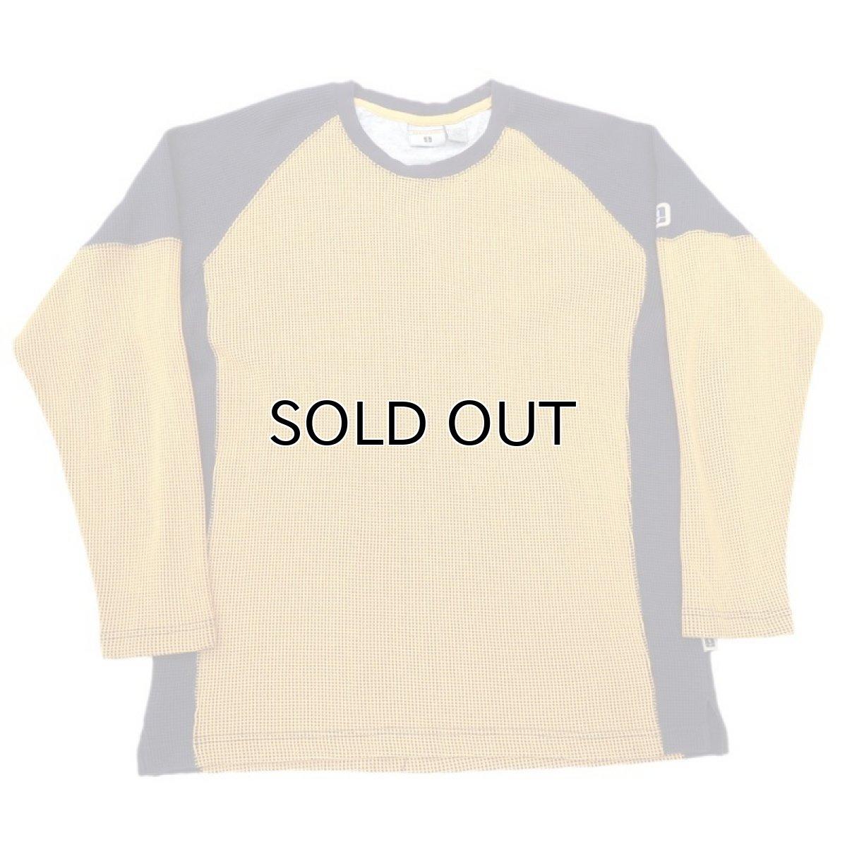 画像1: 1990's~ TRANS NINE L/S Thermal T-Shirt YELLOW/NAVY size M-L(表記L) (1)
