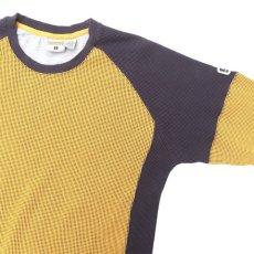 画像4: 1990's~ TRANS NINE L/S Thermal T-Shirt YELLOW/NAVY size M-L(表記L) (4)