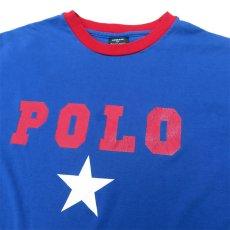 画像3: 1980's~ Polo by Ralph Lauren(ラルフローレン) Logo Print L/S T-Shirt BLUE/RED size M(表記XL) (3)