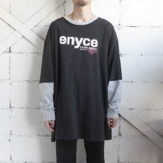 画像2: enyce L/S Layered Print T-Shirt BLACK size XXXL(表記L) (2)