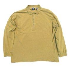 画像1: 1990's GAP(ギャップ) L/S Polo Shirt MUSTARD size L-XL(表記L) (1)